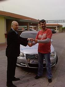 Technischer Leiter Karl-Ernst Breiling <br />mit dem Gewinner Peter Dimic