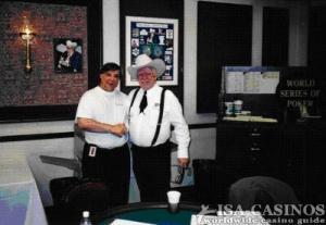 Reinhold Schmitt  mit der Pokerlegende Johnny Hale<br> in Las Vegas.