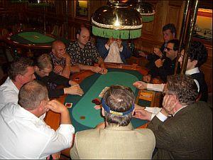 Hochspannung an einem der gestrigen Turniertische<br> in der Spielbank Wiesbaden