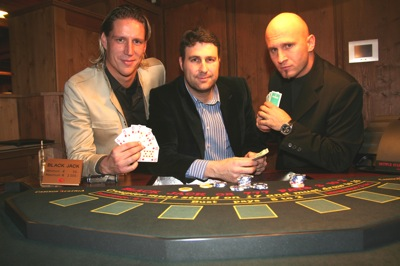 Fussballer Thomas Eder, Casino Seefeld Marketingleiter Mario Del Marco und<br />Freestyler Christian Rijavec