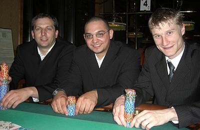Oliver Mansour (1.), Sascha Singh (3.) und Felix Hasselbach (2.)