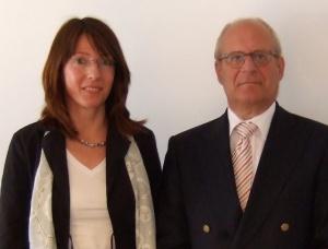 Frau Glawe und Herr Uldall, <br>BDWI-Veranstaltung