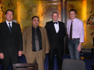 Von links nach rechts Floorman Navarro O., Stankovic, Z. Dealer Hannusch D.,  Jordan M